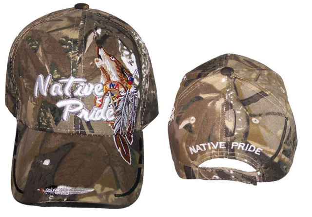 5ee50cd68 Native Pride Camouflage - Howling Wolf with Feathers